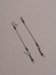 4 inch wire fishing leader